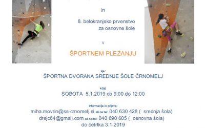 Belokranjsko tekmovanje osnovnih in srednjih šol v plezanju